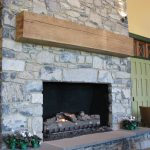 Antique reclaimed resawn white pine mantel