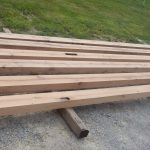 Antique reclaimed resawn white oak beams