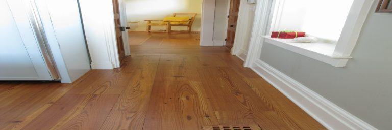 Antique reclaimed resawn heart pine flooring, natural grade