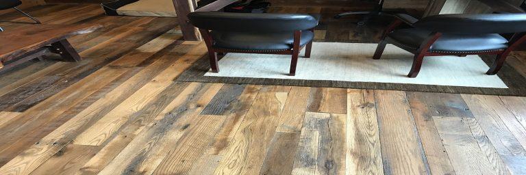 Anitque reclaimed skip planed oak flooring