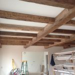 Antique reclaimed hand hewn barn beams
