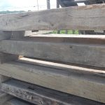 Antique reclaimed old original surface circle sawn barn beams