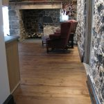 Antique reclaimed white oak flooring resawn from barn beams