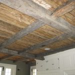 Antique reclaimed hand hewn joist and rafters