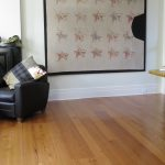 Antique reclaimed heart pine flooring, select grade.