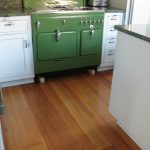 Antique reclaimed heart pine flooring resawn from beams, select grade.
