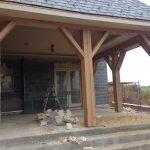 Antique reclaimed white oak facings resawn from barn beams.