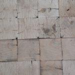 Antique reclaimed white oak end grain blocks resawn from barn beams.