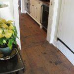 Antique reclaimed yellow pine original surface attic flooring.