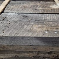 Antique reclaimed old original surface, circle sawn, joist and rafters