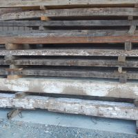 Antique reclaimed old original surface, circle sawn joist and rafters